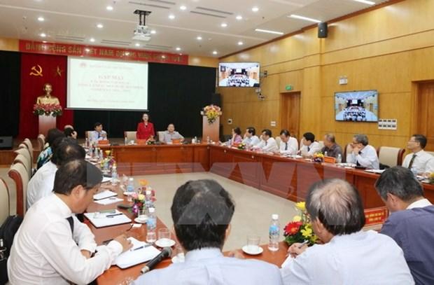 越共中央民运部部长张氏梅会见越南新任驻外大使和首席代表 hinh anh 1