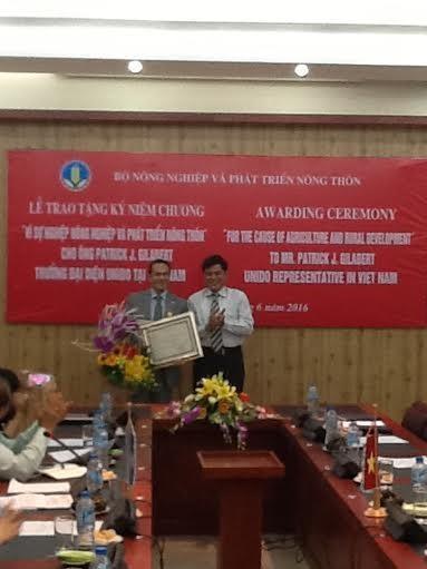 联合国工业发展组织将协助越南农产品走向世界 hinh anh 1