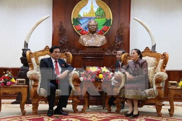 老挝领导人高度评价越老民族事务领域的合作 hinh anh 1