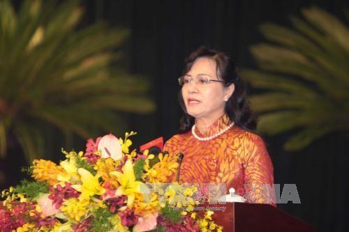 阮氏决心女士再次当选胡志明市第九届人民议会主席 hinh anh 1