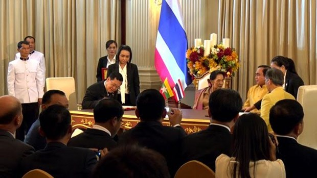 泰国与缅甸一致同意将双向贸易金额增加一倍 hinh anh 1