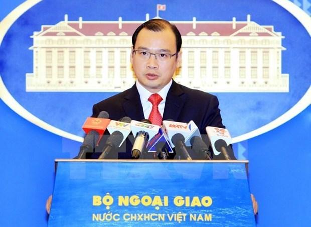 外交部发言人黎海平:越南希望菲律宾诉中国仲裁案仲裁庭作出公正客观的裁决 hinh anh 1