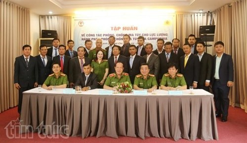 越南为柬埔寨禁毒力量进行培训 hinh anh 1