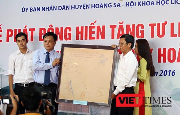 岘港市黄沙展览馆发起文献实物资料捐赠活动 hinh anh 1