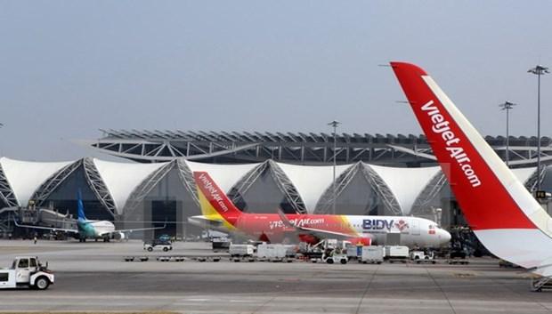 越捷航空因尼伯特台风取消多个往返中国台湾航班 hinh anh 1