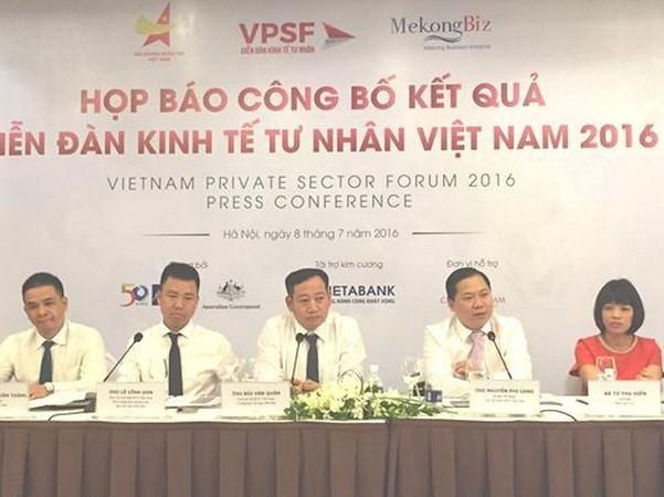 """""""越南私营经济论坛——机遇、挑战和措施""""白皮书出炉 hinh anh 1"""