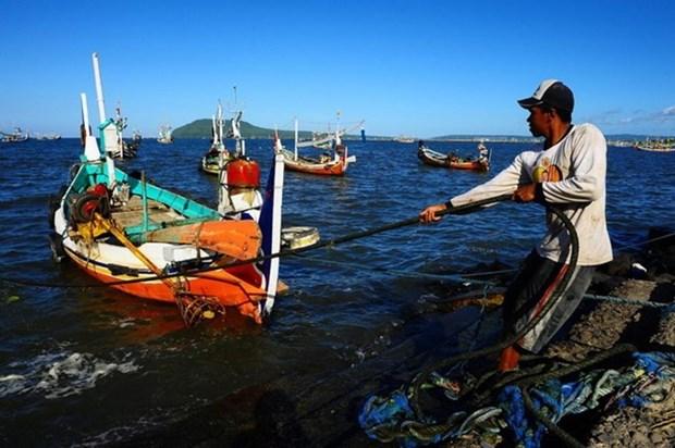 越南渔民成功救起5名马来西亚海上遇险渔民 hinh anh 1