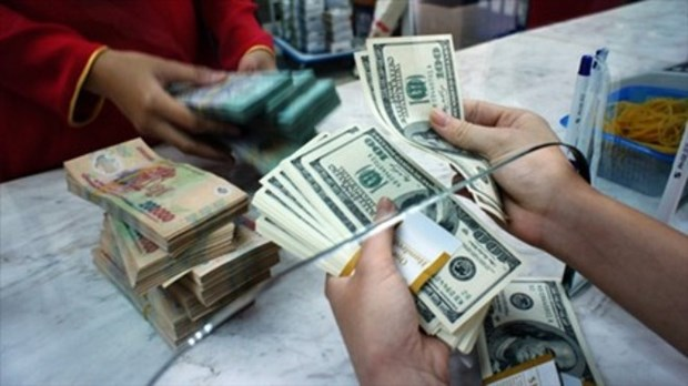 越南国家银行越盾兑换美元中心汇率较上周末下跌7越盾 hinh anh 1