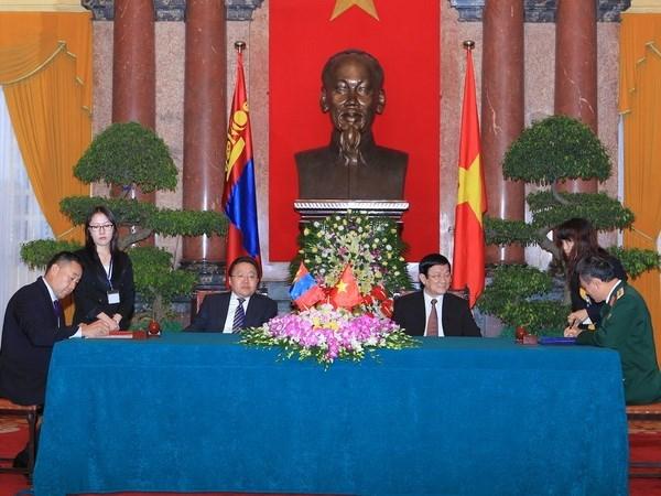 努力推动越南蒙古传统友好合作关系向前发展 hinh anh 1