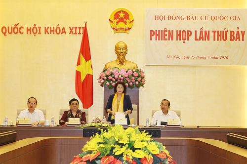 越南国家选举委员会召开第七次会议 hinh anh 1
