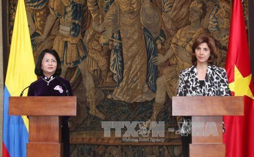 国家副主席邓氏玉盛对哥伦比亚进行正式访问 hinh anh 5