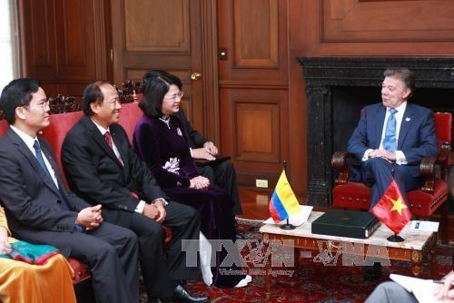 国家副主席邓氏玉盛对哥伦比亚进行正式访问 hinh anh 2