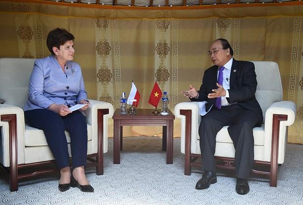 越南政府总理阮春福会见出席第十一届亚欧首脑会议的各国领导人 hinh anh 7