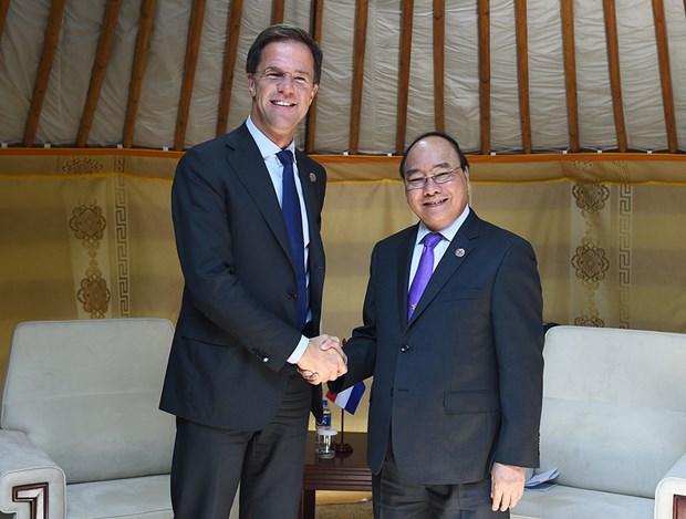 越南政府总理阮春福会见出席第十一届亚欧首脑会议的各国领导人 hinh anh 8