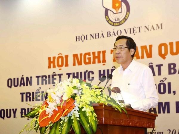 2016年越南《新闻法》贯彻落实暨《新闻工作者职业道德准则》修改补充全国会议 hinh anh 1