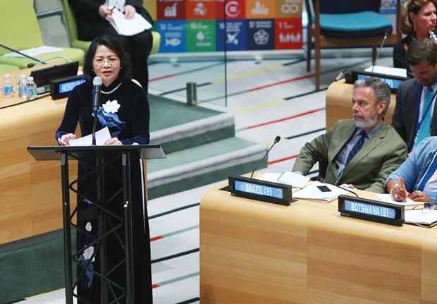 国家副主席邓氏玉盛出席联合国经济及社会理事会高级别会议 hinh anh 2