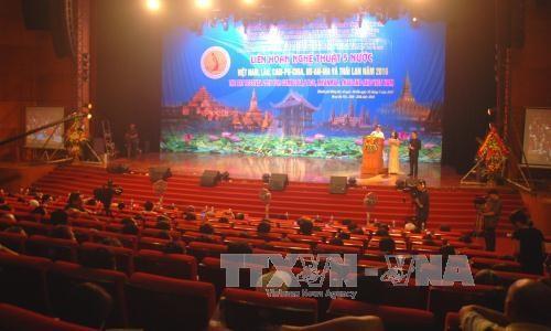2016年越老柬缅泰五国艺术联欢会昨晚正式拉幕 hinh anh 1
