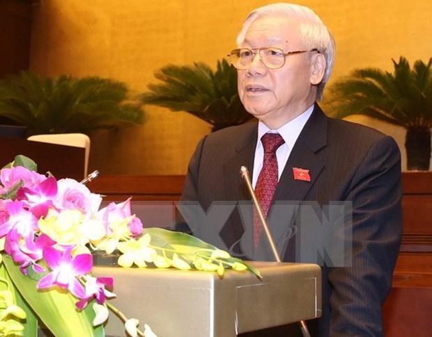 第十四届国会第一次会在河内召开 阮富仲总书记出席并发表重要讲话 hinh anh 1