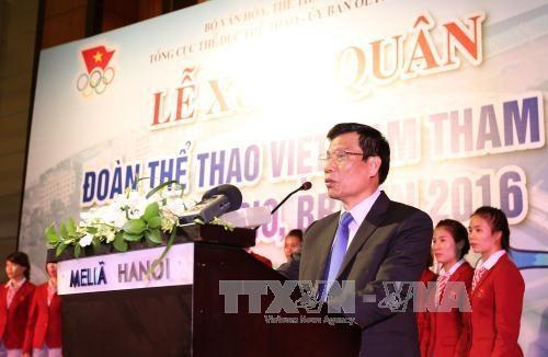 越南体育代表团2016年里约热内卢奥运会出征仪式在河内举行 hinh anh 2