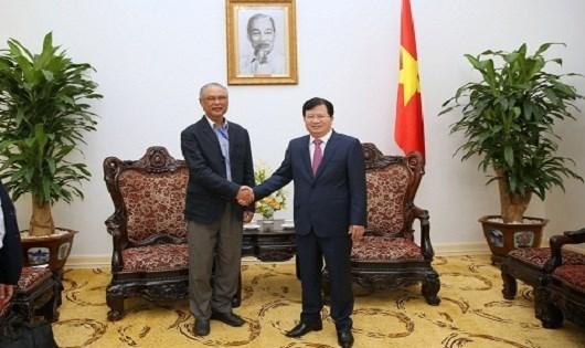 老挝希望与越南大型电力企业加强合作 hinh anh 1