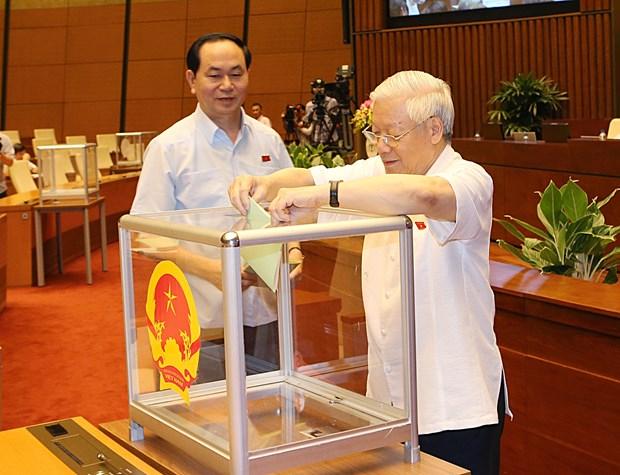 越南第十四届国会第一次会议发表第二号公报 hinh anh 1