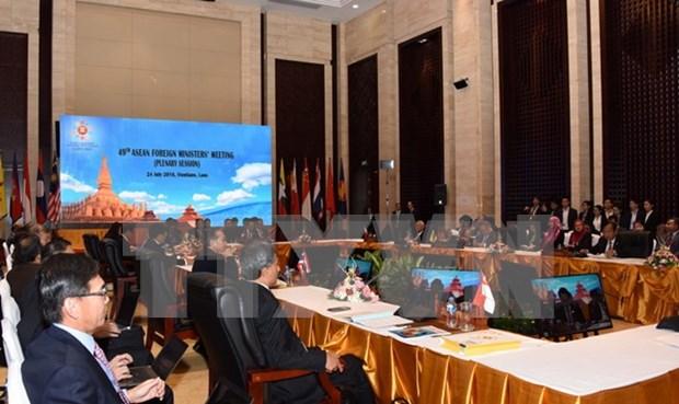 第49届东盟外长会议对东海近期的局势表示关切 hinh anh 1