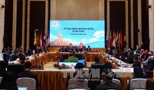 第49届东盟外长发表联合声明对东海问题深表关切 hinh anh 1