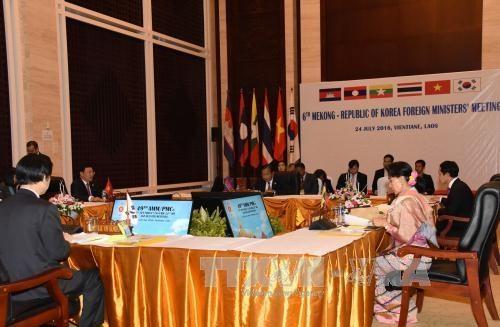 第六届湄公河五国—韩国外长会议在老挝万象召开 hinh anh 1