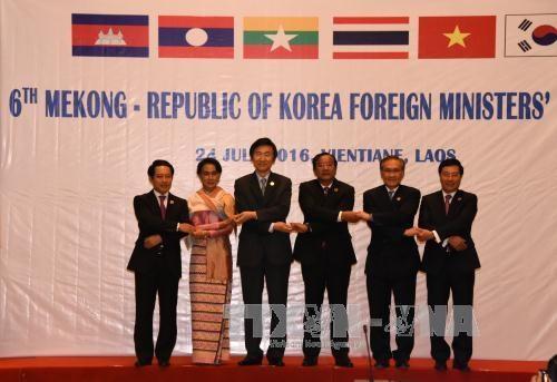 第六届湄公河五国—韩国外长会议在老挝万象召开 hinh anh 2