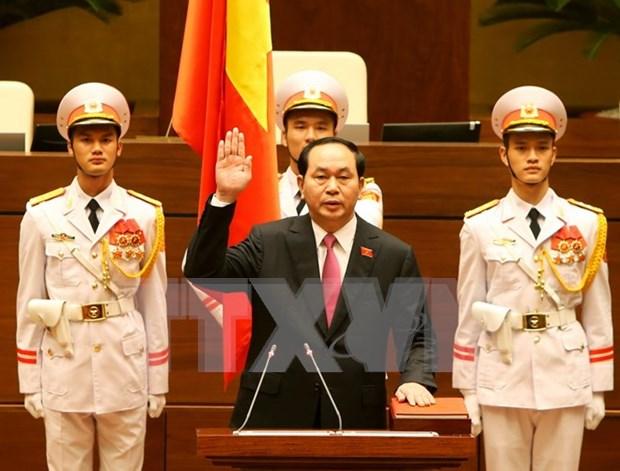 第十四届国会一次会议:陈大光当选越南国家主席 hinh anh 1