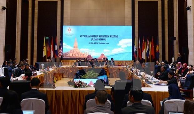 东盟与各对话伙伴国外长会议在老挝举行 hinh anh 1