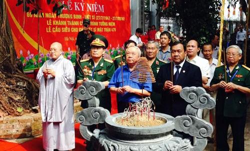 在柬埔寨牺牲的479号阵线越南志愿军纪念工程正式竣工 hinh anh 1