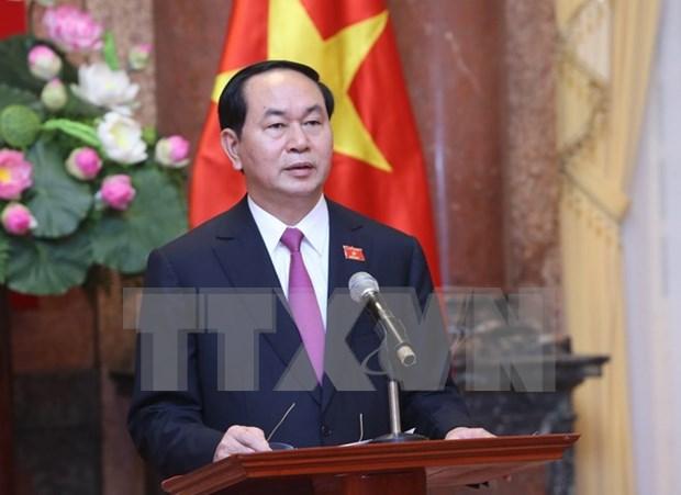 老挝和中国领导人向越南领导人致贺电 hinh anh 1