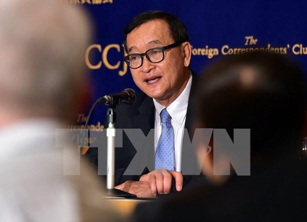 柬埔寨法院对柬埔寨反对党领袖桑兰西诽谤罪名做出判决 hinh anh 1