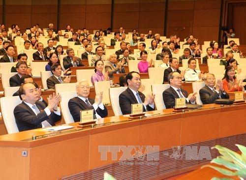 越南第十四届国会第一次会议结束后举行记者会 hinh anh 1