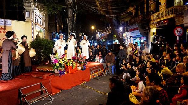 河内古街夜晚生动的民族音乐 hinh anh 2