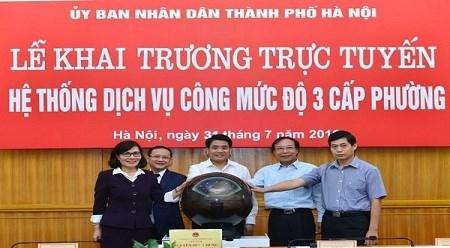 河内正式开通三级在线公共服务平台 hinh anh 1