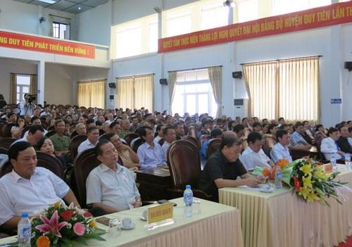 河南省举行越南橙剂灾难55周年纪念典礼 hinh anh 1