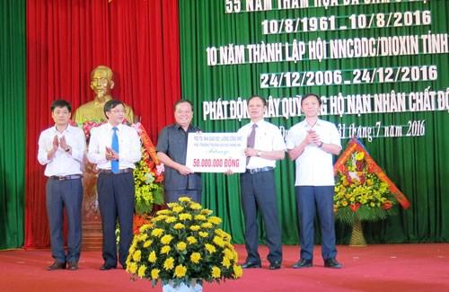 河南省举行越南橙剂灾难55周年纪念典礼 hinh anh 2