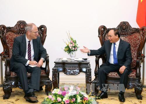 阮春福总理会见德国新任驻越大使克里斯蒂安•贝格尔 hinh anh 1