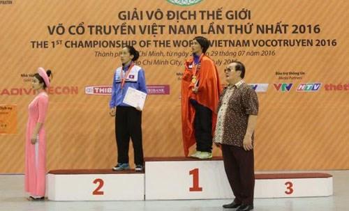 越南传统武术世界锦标赛:越南体育代表团居奖牌榜榜首 hinh anh 1