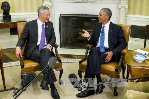 新加坡总理李显龙敦促美国尽早批准TPP hinh anh 1