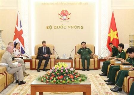 越南人民军总参谋部领导会见国际客人 hinh anh 1