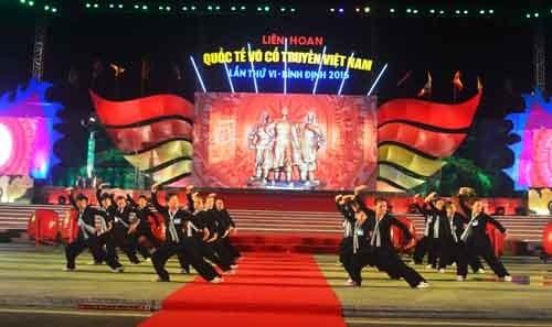 2016年越南传统武术国际节在平定省圆满落幕 hinh anh 1
