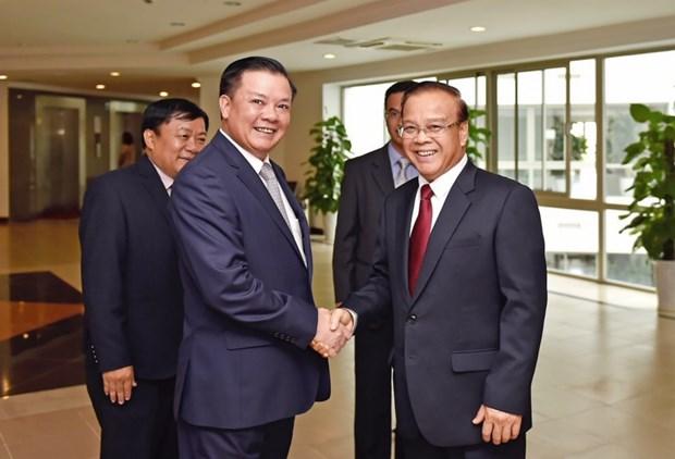 越老两国财政部加强合作关系 hinh anh 1