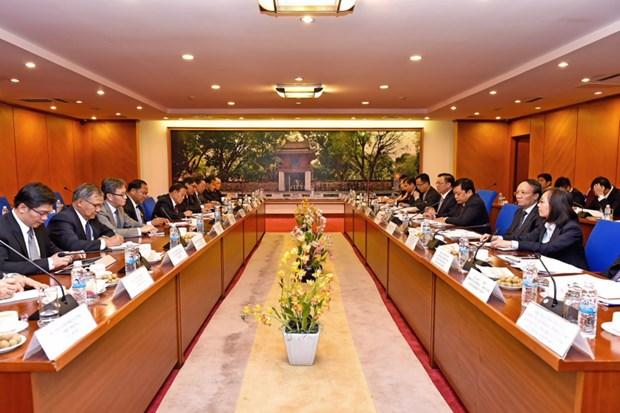 越老两国财政部加强合作关系 hinh anh 2