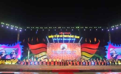 2016年越南传统武术国际节在平定省圆满落幕 hinh anh 2
