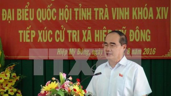 选民相信第十四届国会将成为行动国会 hinh anh 1