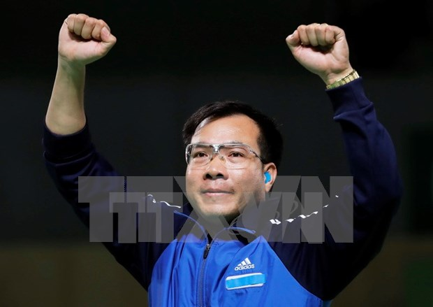 世界媒体对越南射击选手黄春荣的成就表示敬佩 hinh anh 1