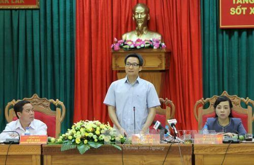 武德儋副总理:西原地区各省需加大登革热防控力度 hinh anh 1